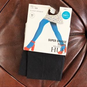 ⭐️ 3/$15 Hue Opaque Tights Black NWT Size 1